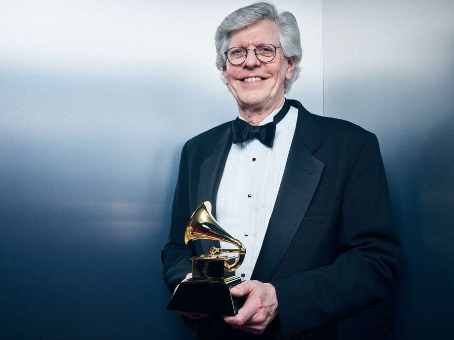 "Robert Simpson, winner of Best Choral Performance for ""Duruflé: Complete Choral Works"" is all smiles during the 62nd Annual GRAMMY Awards at Staples Center on Jan. 26 in Los Angeles."