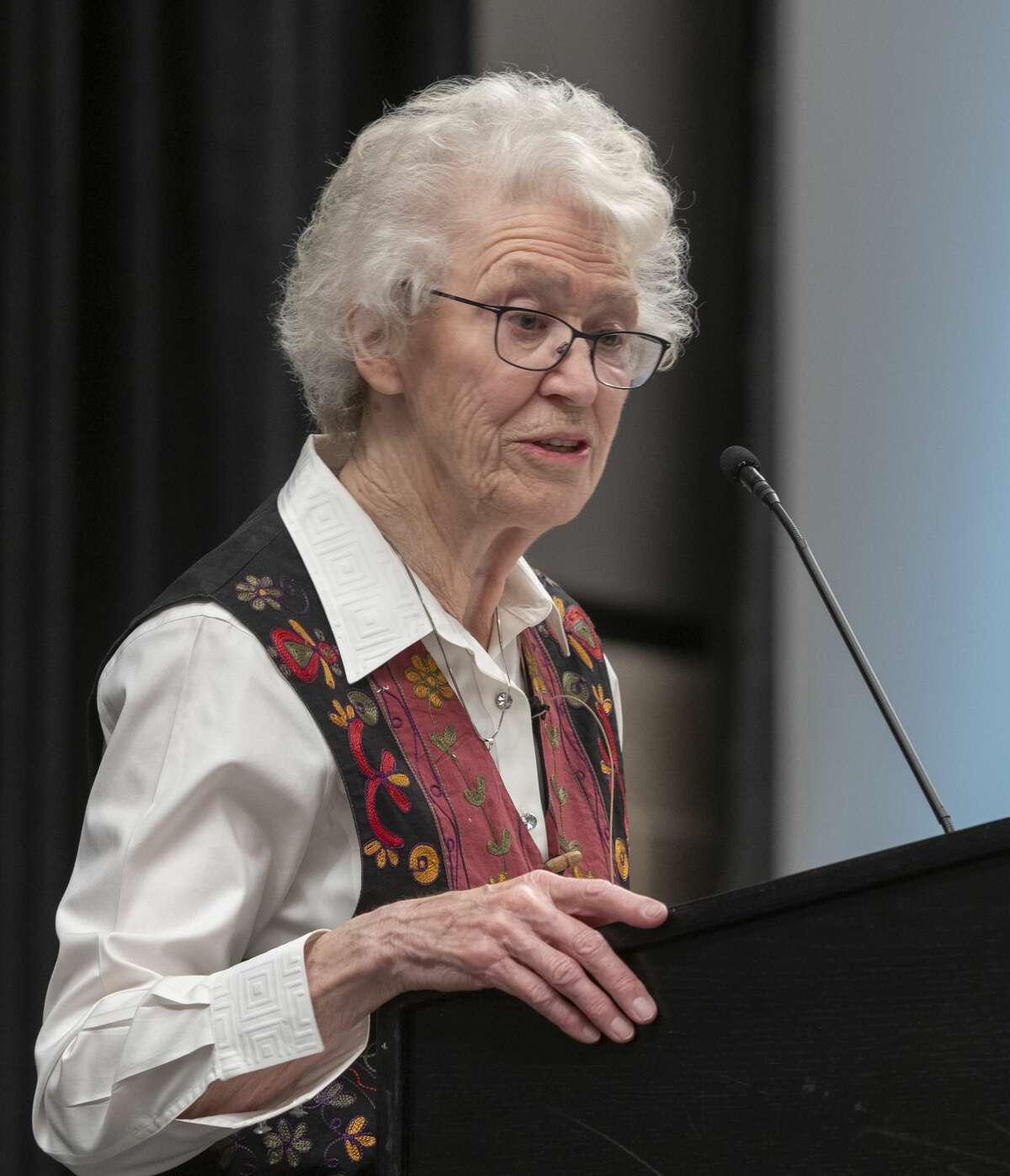 Jill Bownds speaks 02/04/20 morning about her life as as a Christian at the 2020 Permian Basin Prayer Breakfast. Tim Fischer/Reporter-Telegram