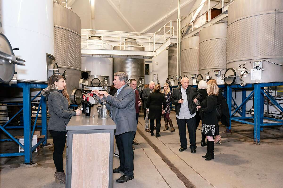 The 2020 San Francisco Chronicle Wine Competition judge's dinner at CalmŽre Winery in Napa, California, Wednesday, January 8th, 2020.