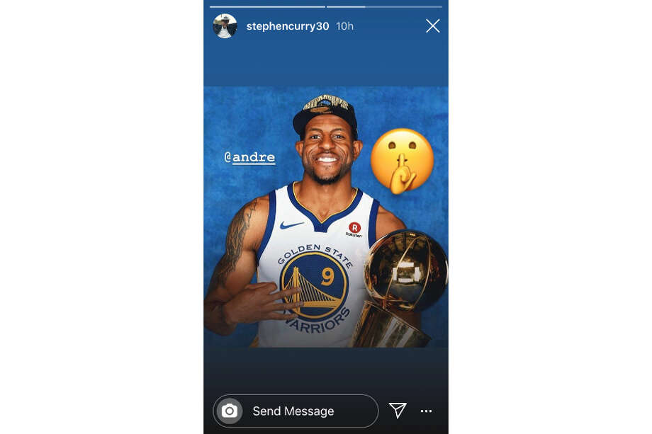 Steph Curry backing Andre Iguodala after Memphis rookie Ja Morant supports teammate Dillon Books' comments he is looking forward to Iggy being traded. Photo: Instagram / StephenCurry30