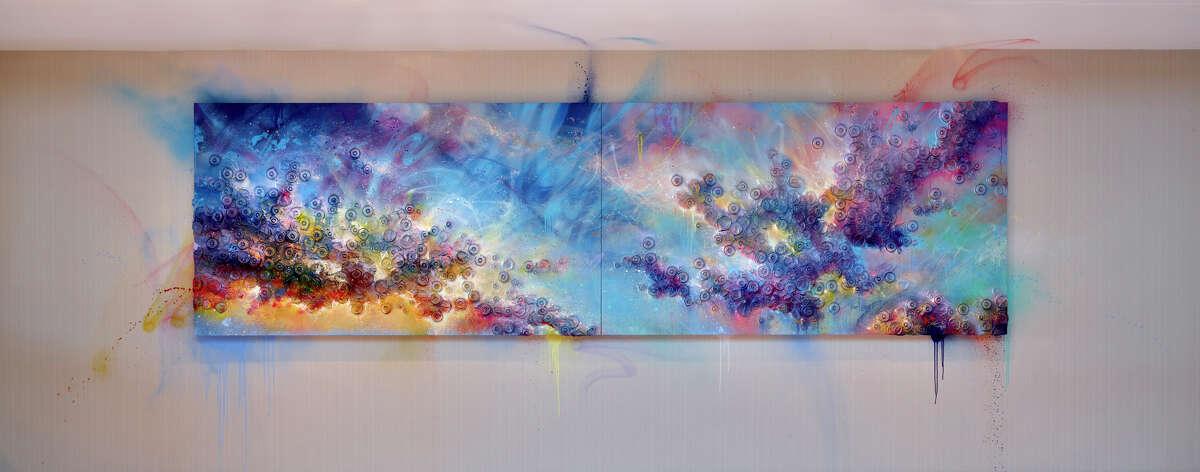 """""""L'amour et le Ciel"""" by Sebastien Boileau at The Westin Houston Medical Center."""