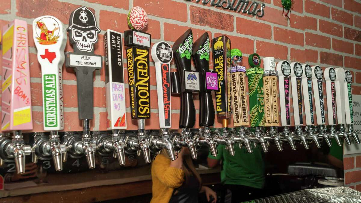 Struggle Street Brewing Company held a tasting party for Parish Brewing Company's line of brews on Friday, December 20, 2019. The taps of a variety of beers at Struggle Street. Fran Ruchalski/The Enterprise