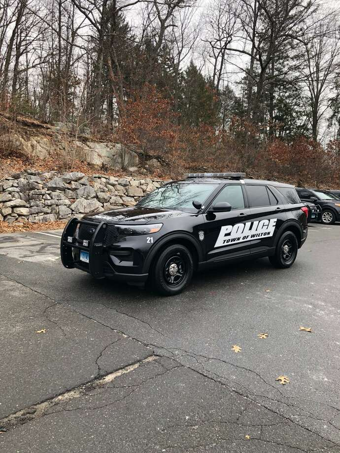 The new police vehicle is a hybrid that will boost fuel efficiency. Photo: Contributed Photo / Wilton Police Department / Wilton Bulletin Contributed