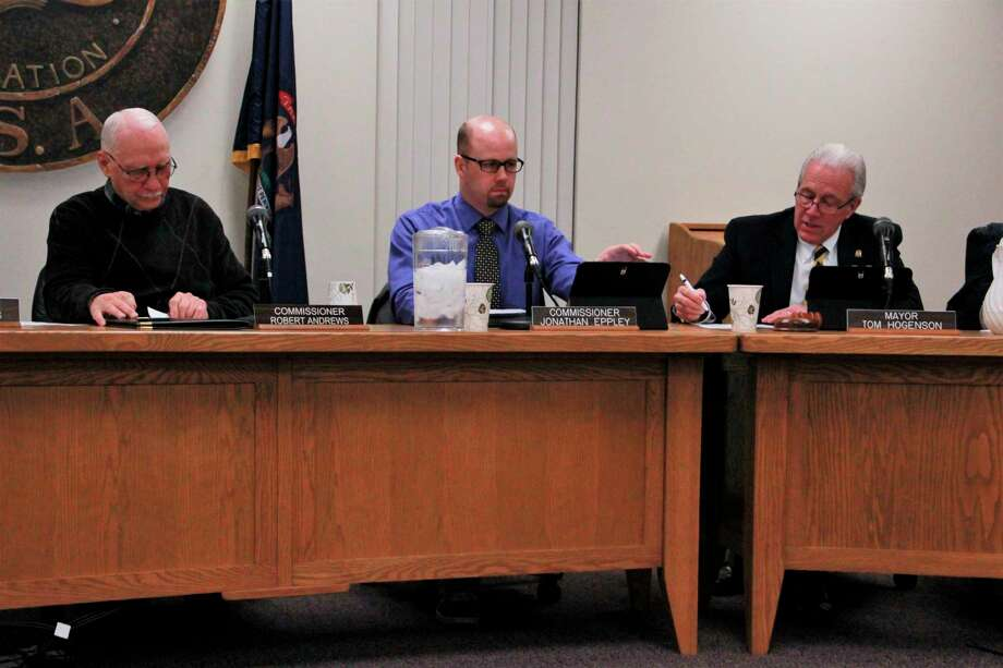 The resolution to acceptthe bid of Davey Resource Group, Inc.in the amount of $20,850 passed unanimously at Monday's city commission meeting. According to Big Rapids City Manager Mark Gifford, the bid will help the city with moving forward with their project to maintain trees in the city. (Pioneer photo/Alicia Jaimes)