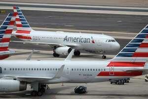 American Airlines planes at Phoenix Sky Harbor International Airport in Phoenix.