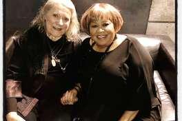 Jazz vocalists Barbara Dane (left) and SFJazz Gala honoree Mavis Staples. Jan. 30, 2020.