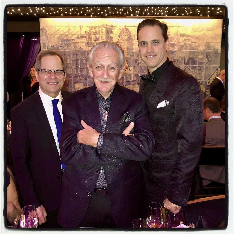 SFJazz founder Randall Kline (left) with blues harpist Charlie Musselwhite and SFJazz philanthropist Robert Mailer Anderson at the SFJazz Gala. Jan. 30, 2020. Photo: Catherine Bigelow / Special To The Chronicle