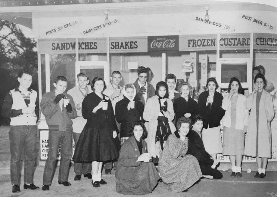 The Dan-Dee-Dog Hamburger Stand in the 1959 Conroe Flare yearbook. The Dan-Dee-Dog was located on Frazier Street in the location where the Walgreens is today. Photo: Photo Courtesy The Conroe High School 1959 Yearbook