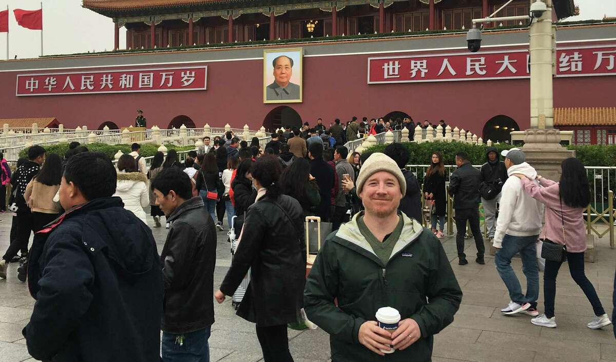 The writer, James Osborne, outside the Forbidden City, a former imperial palace, in Beijing.