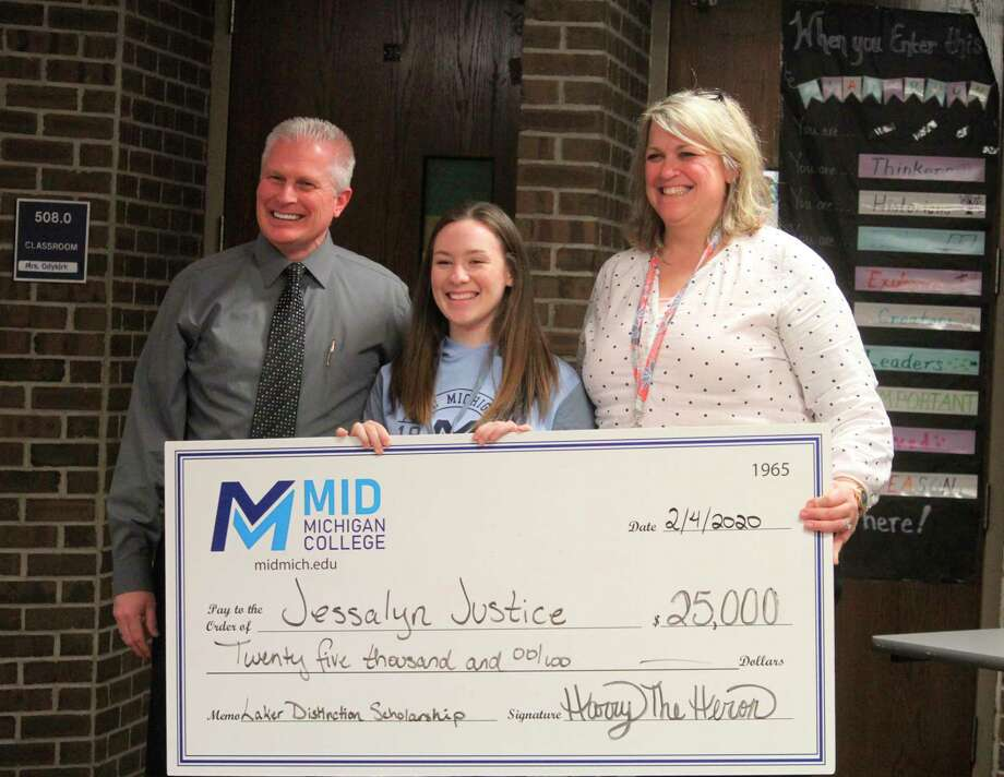 CHHS student Jessalyn Justice was awarded the Laker Distinction Scholarship for $25,000. (Pioneer photo/Catherine Sweeney)