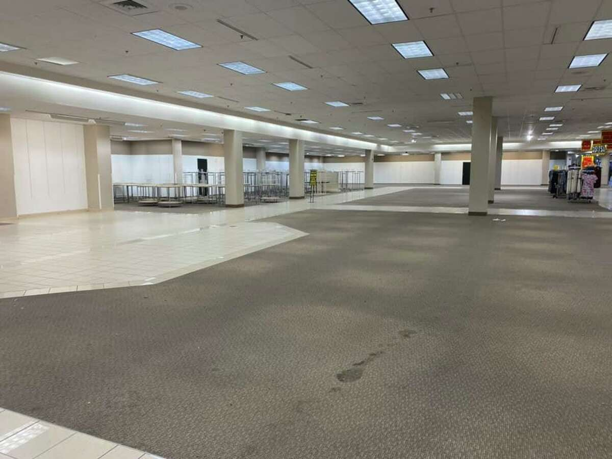 Photos shared by New Republic of San Antonio show the once bustling department store decimated to only a handful of products and racks Monday night. The South Park Mall store was the only one in Texas affected by the decision to close 96 Sears and Kmart locations. Transformco, the parent company of the two brands, announced the