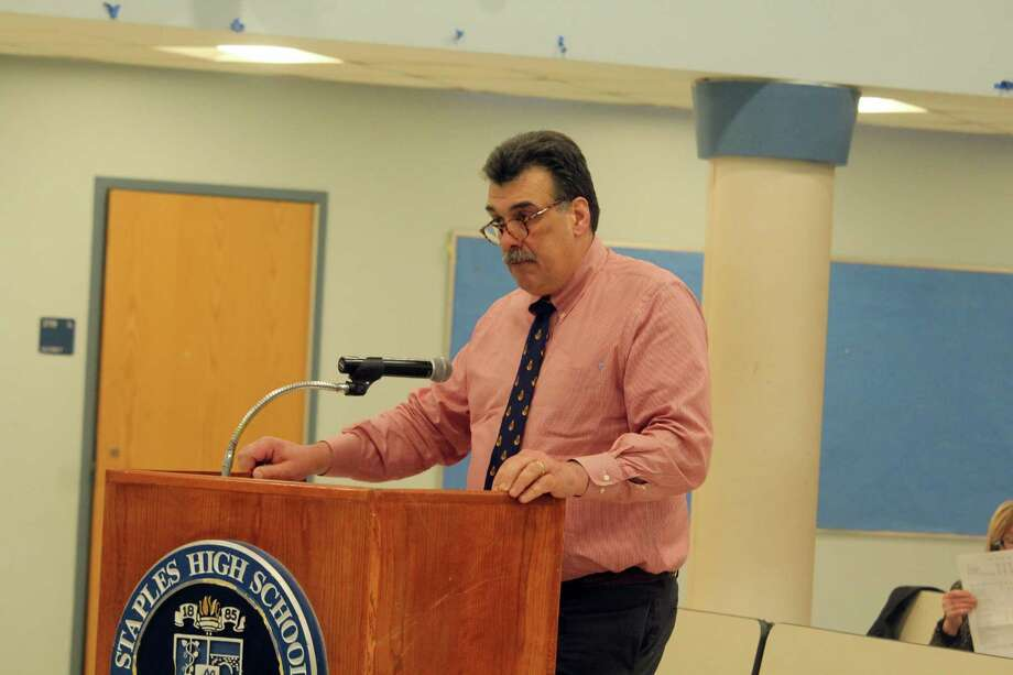 Ted Hunyadi, director of facilities, speaks at a BOE meeting. Taken Feb. 3, 2020 in Westport, Conn. Photo: DJ Simmons/Hearst Connecticut Media