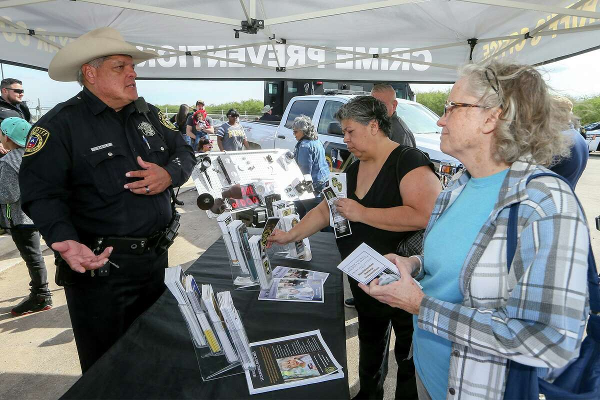 In a crowded field for Precinct 2 constable, we recommend Ino Badillo, left, a retired sheriff's deputy. Badillo has the law enforcement background and understanding of county government for this job. In this 2018 photo, he speaks about residential safety inspections offered by the county.