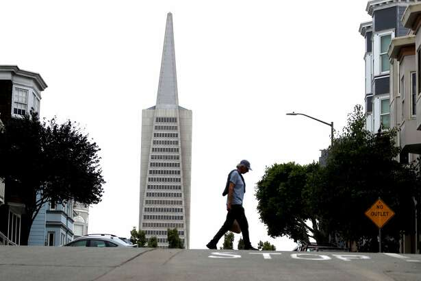 A view of the Transamerica Pyramid building on August 19, 2019 in San Francisco, California. San Francisco's iconic Transamerica Pyramid building is up for sale for the first time since its completion in 1972. The building located at 600 Montgomery is estimated to sell for $600 million and will include 2 other buildings at 505 Sansome Street and 545 Sansome Street for a total of 760,000 square feet of office space. (Photo by Justin Sullivan/Getty Images)