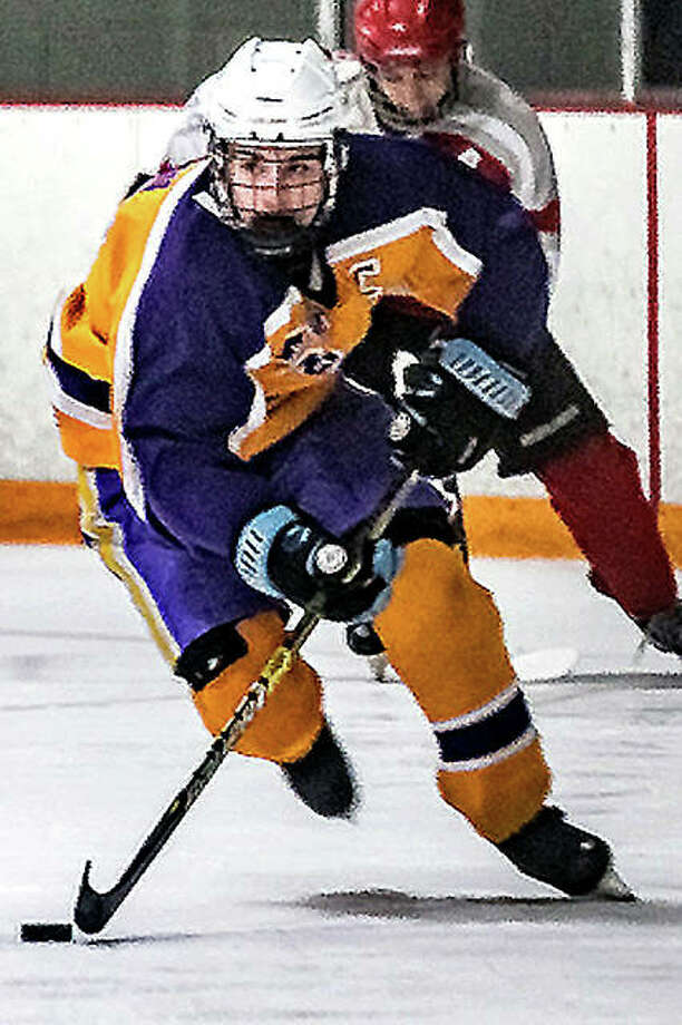 Nolan Kahl and the Bethalto Eagles will open the MVCHA Class 1A playoffs at 7 p.m. Thursday against Triad at the Granite City Ice Rink. Kahl had 18 goals and five assists in the regular season. Photo: Pete Hayes | The Telegraph