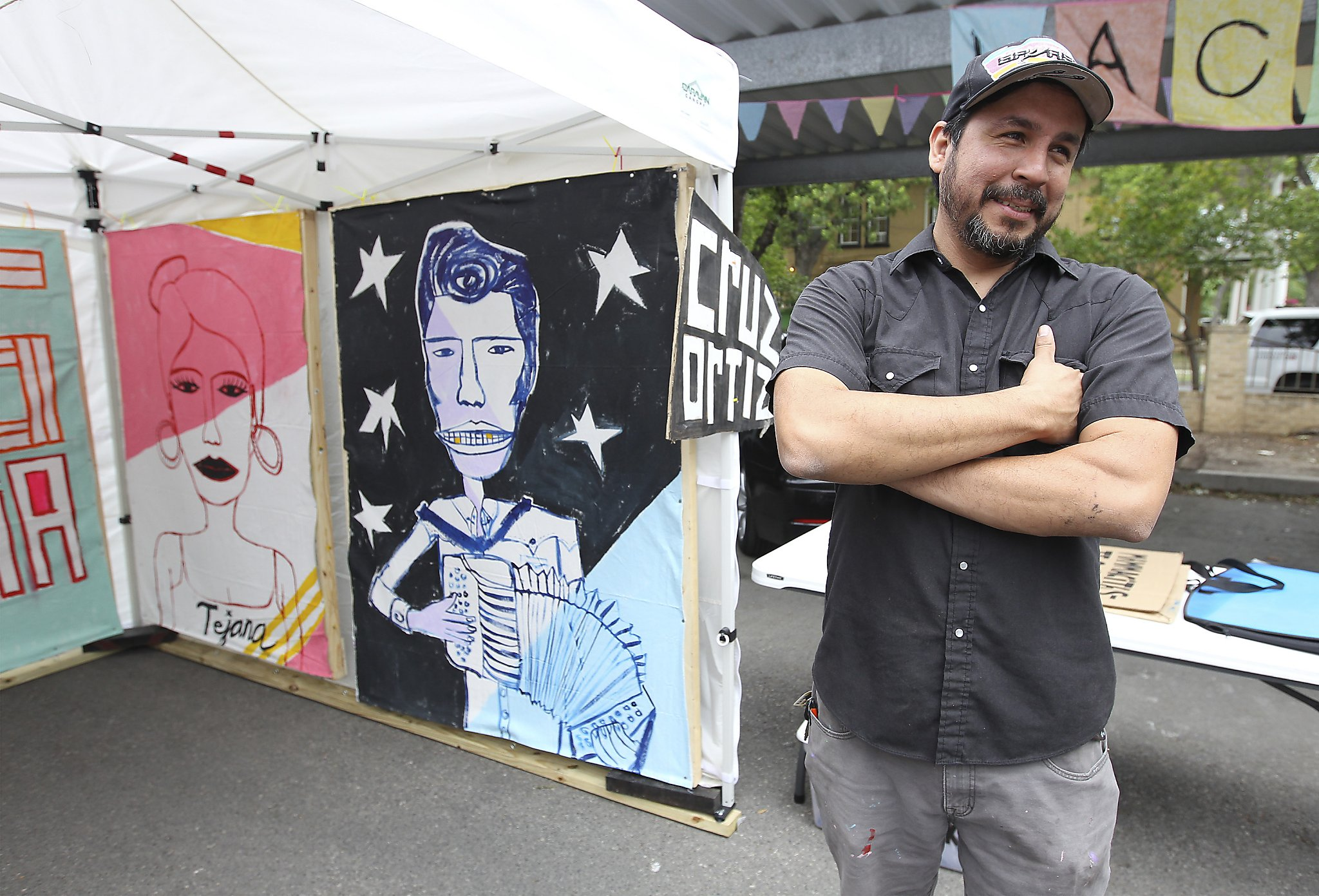 Artist Cruz Ortiz made a name for himself in San Antonio. Now he's returning home to Houston
