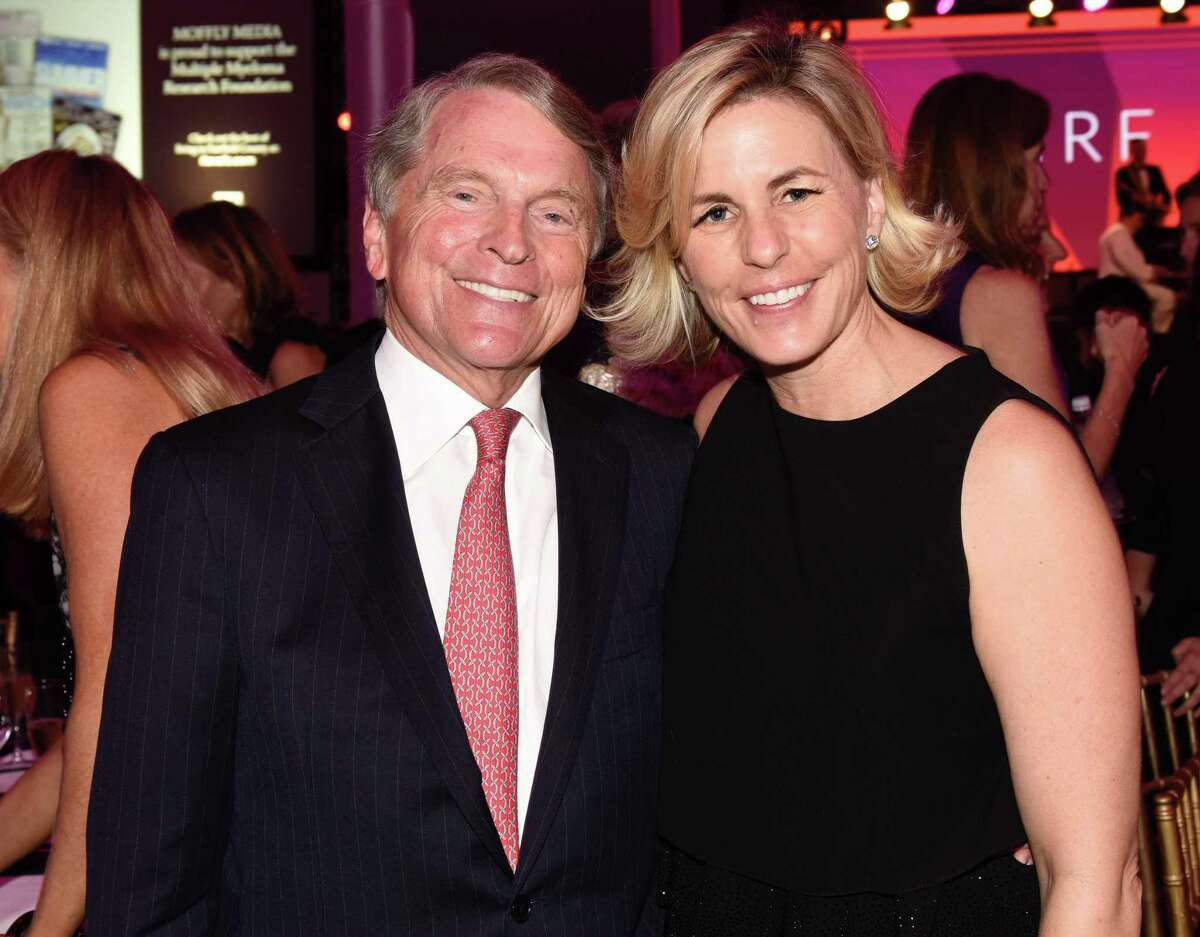 David Ogilvy and his wife, Anne Ogilvy, attend the Multiple Myeloma Research Foundation annual fall gala on Oct. 28, 2017 at the Greenwich Hyatt hotel in Greenwich, Conn.