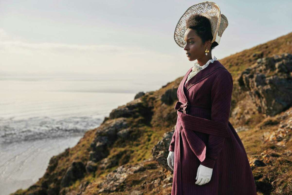 """This image released by PBS shows Crystal Clarke as Miss Lambe from the series MASTERPIECE: Sandition,"""" airing Sundays on PBS. (Simon Ridgway/Red Planet Pictures/PBS via AP)"""