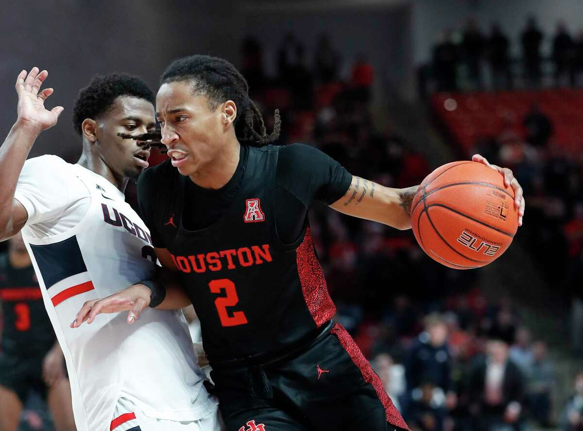 Averaging 12.9 points per game and usually coming off the bench, UH guard Caleb Mills (2) is on pace to join Rob Williams (1979-80) as the only freshmen to lead the Cougars in scoring.