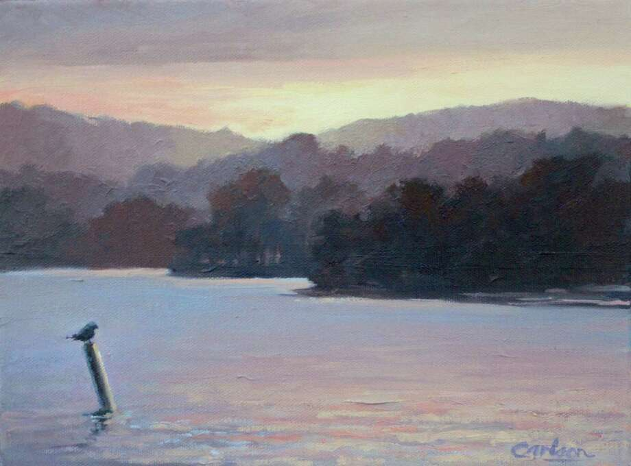 """Sherman Library is presenting """"Water and Sky,"""" an exhibit of oil paintings by Beth Carlson through Feb. 19 at the Sherman Center library. Above is """"Perched, Warren,"""" an oil on canvas. Photo: Courtesy Of Sherman Library / The News-Times Contributed"""