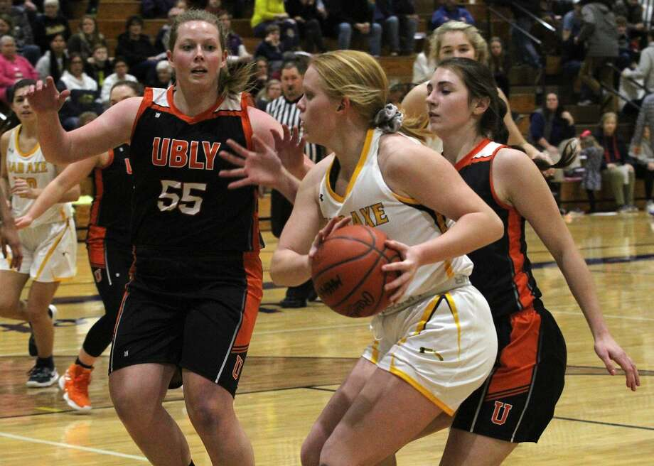 The Ubly girls basketball team improved to 12-1 on the season with a 49-37 win over host Bad Axe on Tuesday night. Photo: Mark Birdsall/Huron Daily Tribune