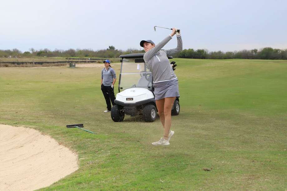 Yuliana Yapur shot a 3-under 69 in the final round Tuesday to lead TAMIU and finish fifth individually in the Jack Brown Memorial Tournament at the Max A. Mandel Municipal Golf Course. Photo: Courtesy Of TAMIU Athletics