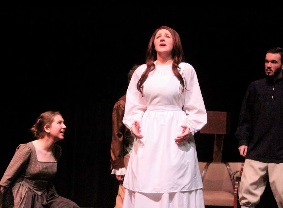 BRHS students practice for opening night during Monday dress rehearsals. (Pioneer photo/Catherine Sweeney)