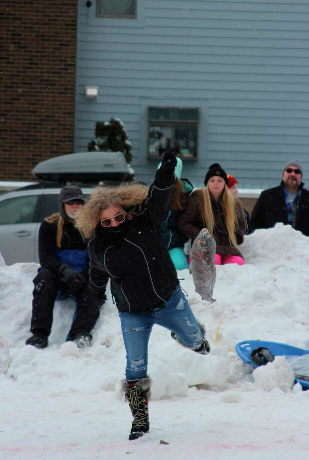 The frozen fish toss is just one of the many games for adults and children at Beulah's Winterfest. (File Photo)