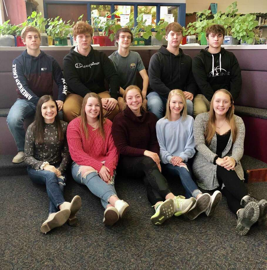 Bad Axe High School Snow Carnival King and Queen candidates have been announced. They are (top row) Jack Fischer, Brandon McAlpine, Ethan Kent, Luke Sobczak, and Logan Stark; (bottom row) Laken Rosenthal, Marissa Brown, Ima Petred, Kelsey Hill, and Brianna Wisenbaugh. (Submitted Photo)