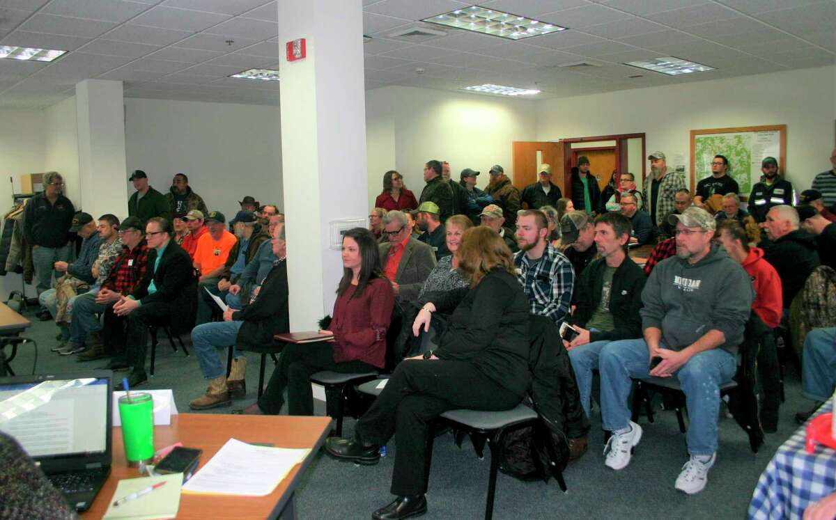 It was standing room only at the Osceola County Board of Commissioners meeting Feb. 3, as the Osceola County for 2nd Amendment Sanctuary Status presented the board with a resolution asking the board to affirm their support of the second amendment rights. (Herald Review photo/Cathie Crew)