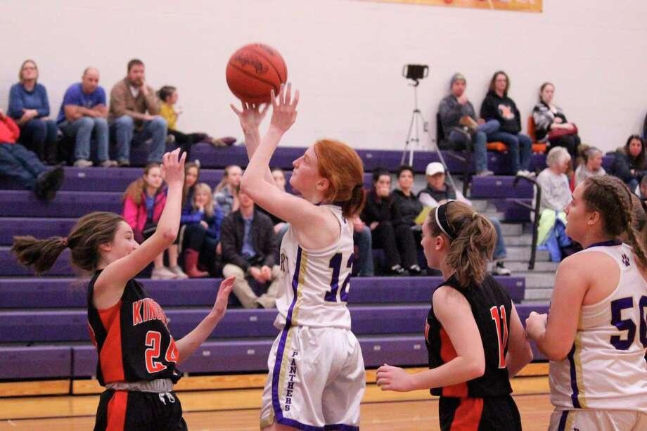 Taylor Myers shoots a jumper during Frankfort's JV loss to Kingsley on Jan. 30. (Photo/Robert Myers)