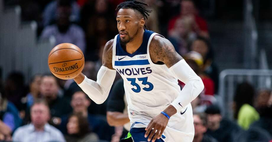 PHOTOS: 2019-20 Rockets game-by-game ATLANTA, GA - NOVEMBER 25: Robert Covington #33 of the Minnesota Timberwolves dribbles the ball during a game against the Atlanta Hawks at State Farm Arena on November 25, 2019 in Atlanta, Georgia. (Photo by Carmen Mandato/Getty Images) >>>See how the Rockets have fared in each game this season ... Photo: Carmen Mandato/Getty Images