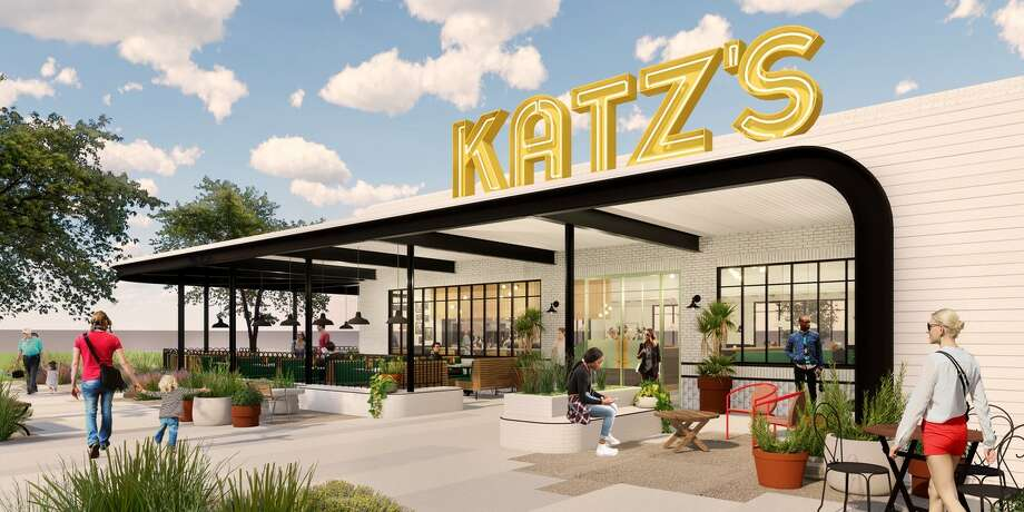 Katz's Deli will open a new loation at 2200 N. Shepherd in the Heights in fall 2020. Rendering of exterior. Photo: Michael Hsu Office Of Architecture