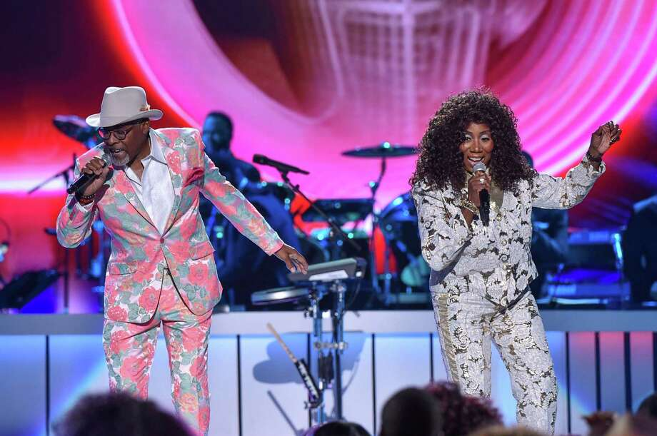 Abdul Ra'oof, left, and Mary Davis of the group S.O.S. will be part of Flashback Funk Fest. Photo: Aaron J. Thornton / Getty Images / 2019 Aaron J. Thornton