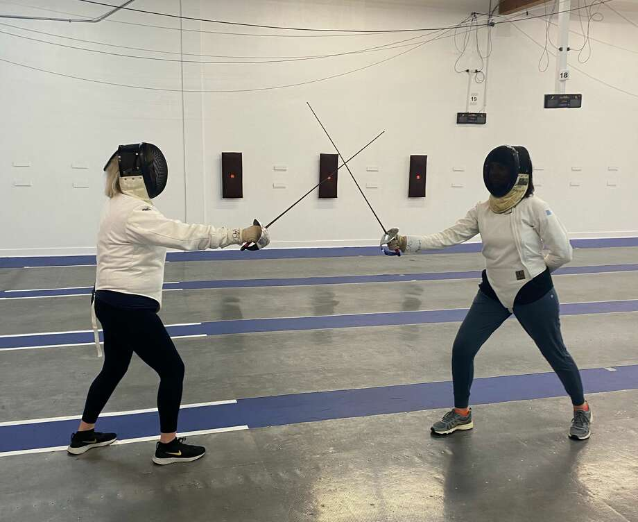Mystery sent Van Camp and Knauff to Salle Auriol for a fencing lesson. Photo: Courtesy Of Marceil Van Camp