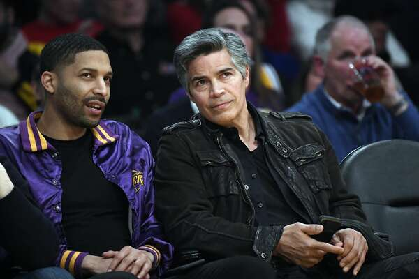 LOS ANGELES, CA - FEBRUARY 04: Actor Esai Morales (R) attends the Los Angeles Lakers and San Antonio Spurs game at Staples Center on February 4, 2020 in Los Angeles, California. NOTE TO USER: User expressly acknowledges and agrees that, by downloading and/or using this Photograph, user is consenting to the terms and conditions of the Getty Images License Agreement. (Photo by Kevork Djansezian/Getty Images)