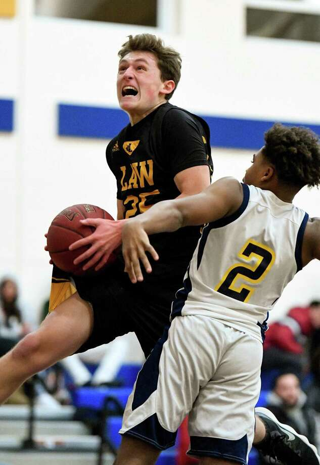 Noah Tutlis had back-to-back 17 point games to help Law past Daniel Hand and Lyman Hall. Photo: David G Whitham / For Hearst Connecticut Media / DGWPhotography