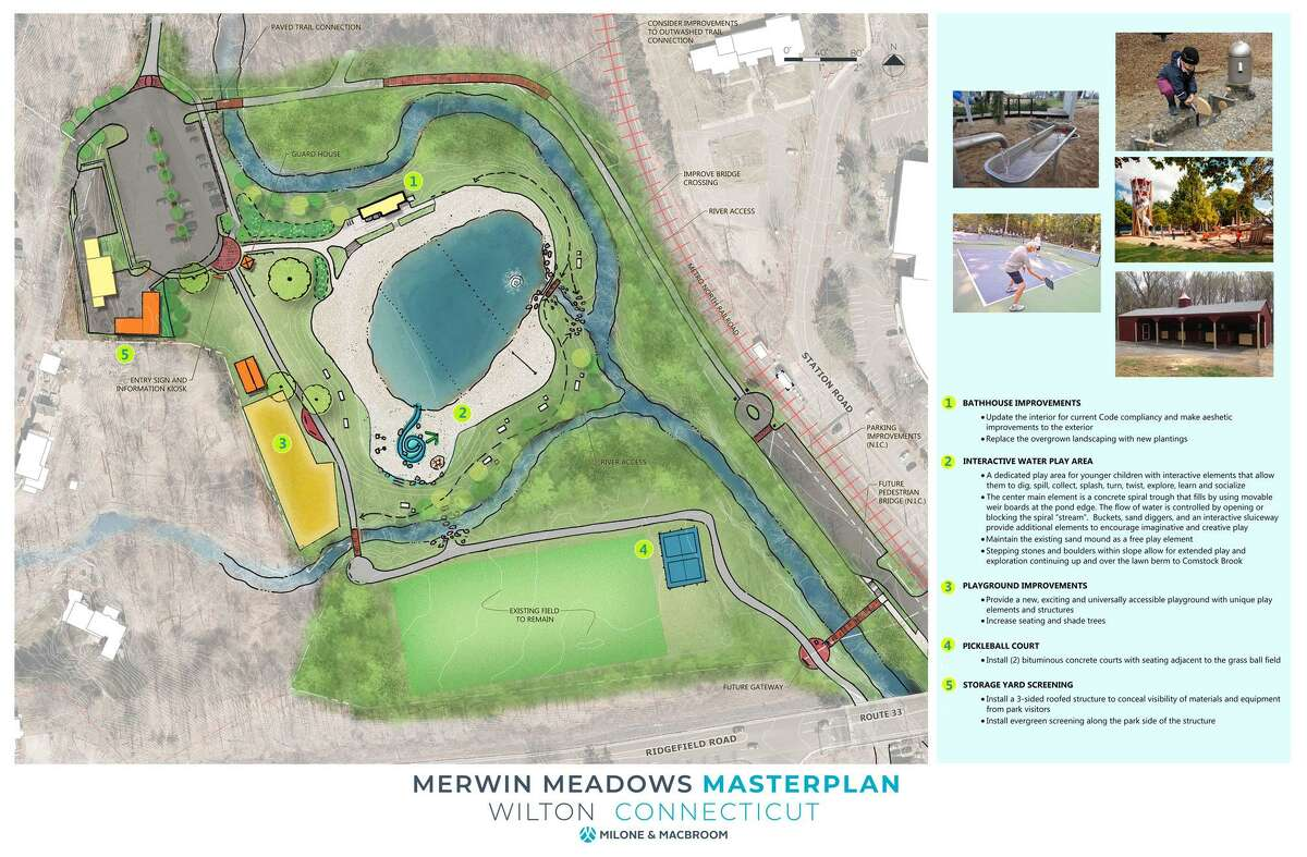 Master plan for Merwin Meadows, approved by Wilton Board of Selectmen.