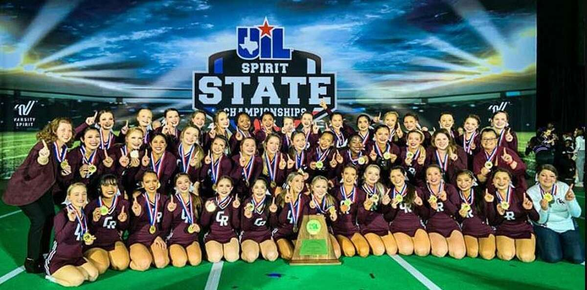 The Cinco Ranch High School cheerleading squad recently came home as the first-place winner in the UIL Division 6A Division 1 under coach Loren Williamson.
