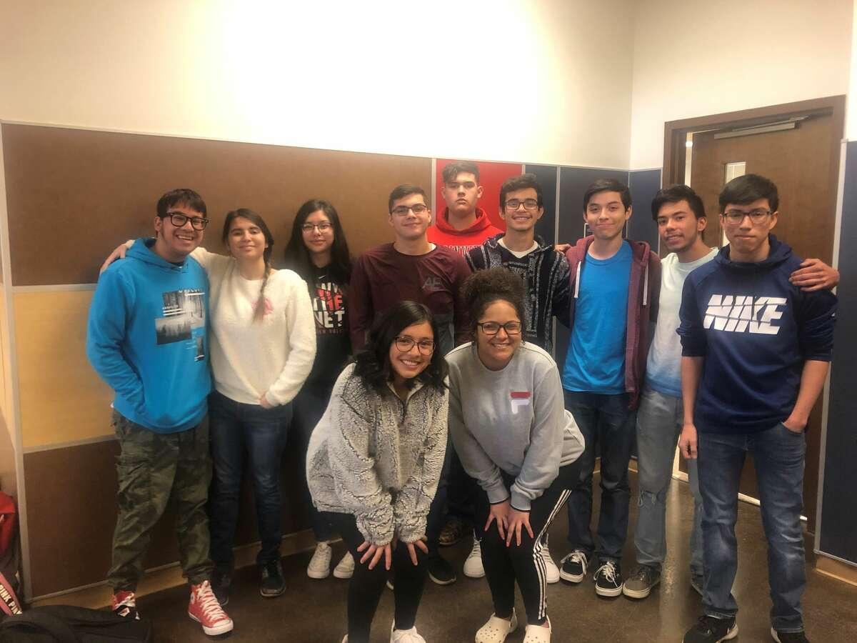 Students pictured are (L-R) Maritsa Ramos, Isaiah D Rodriguez, Xavier Gonzales, Brandon Fenelon, Trey Morales, and Julian Ramirez