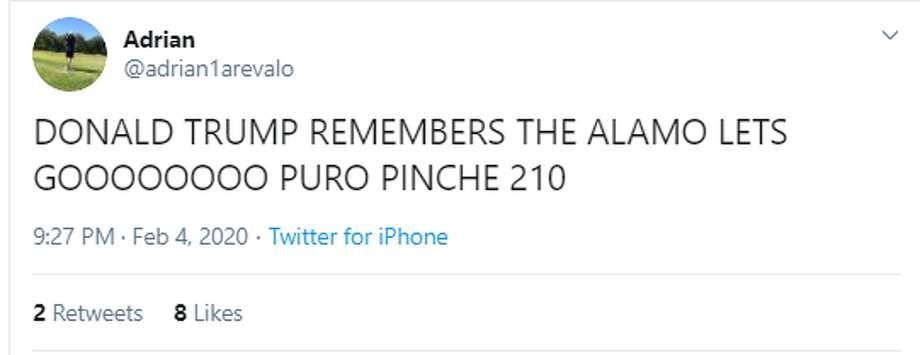 President Donald Trump singled out the Alamo during his State of the Union address on Tuesday night. Social media immediately reacted to the line. Photo: Twitter