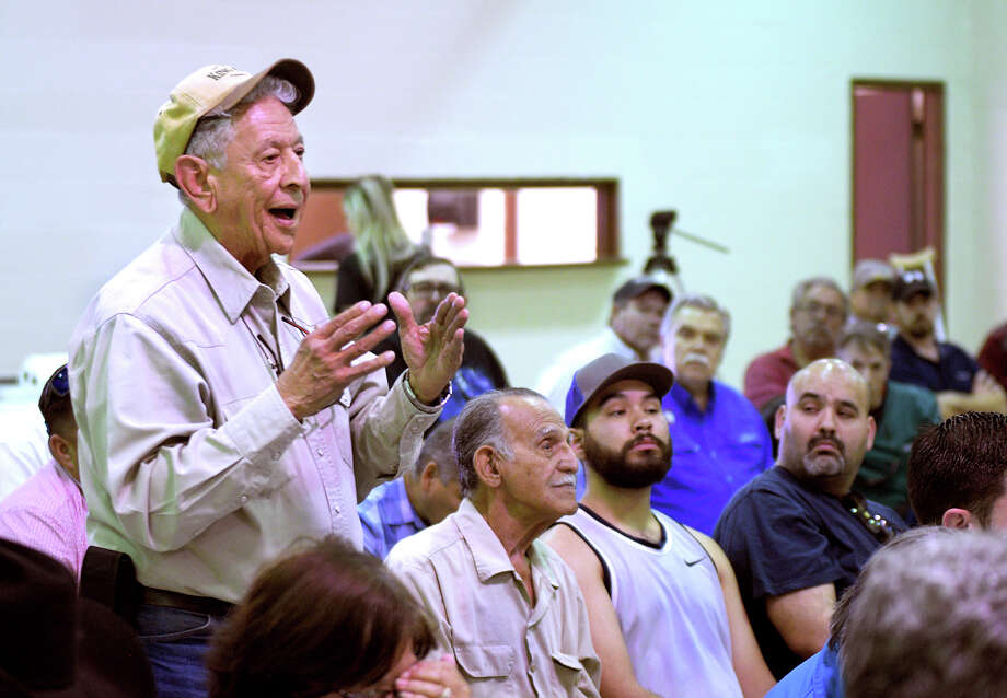 Zapata County land owner, Santiago Ramirez was among those attending the Border Wall in Zapata County: Know your Rights, conference at the San Ygnacio Civic Center, Tuesday, February 4, 2020. Photo: Cuate Santos/Laredo Morning Times