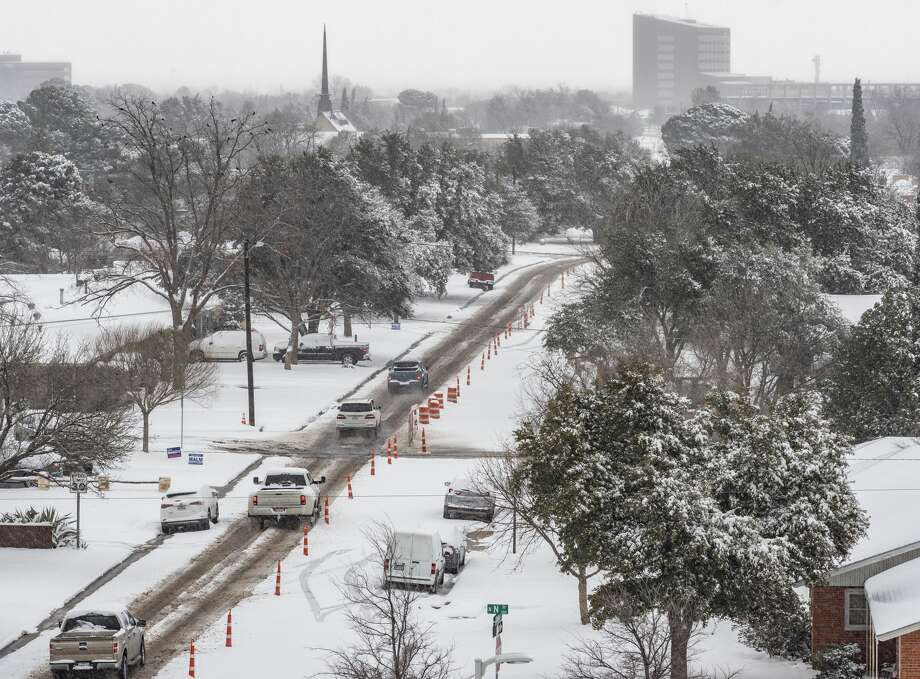 Midland and much of the Permian Basin was covered in snow 02/05/2020. Tim Fischer/Reporter-Telegram Photo: Tim Fischer/Midland Reporter-Telegram