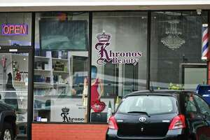 The Khronos Beauty Salon at 250 Westport Ave Wednesday, February 5, 2020, in Norwalk, Conn. Karoll Angelina Jurado-Hernandez, 46, an employee of Khronos Beauty Salon, was charged with second-degree sexual assault and risk of injury to a minor for an incident that allegedly occurred in the salon.