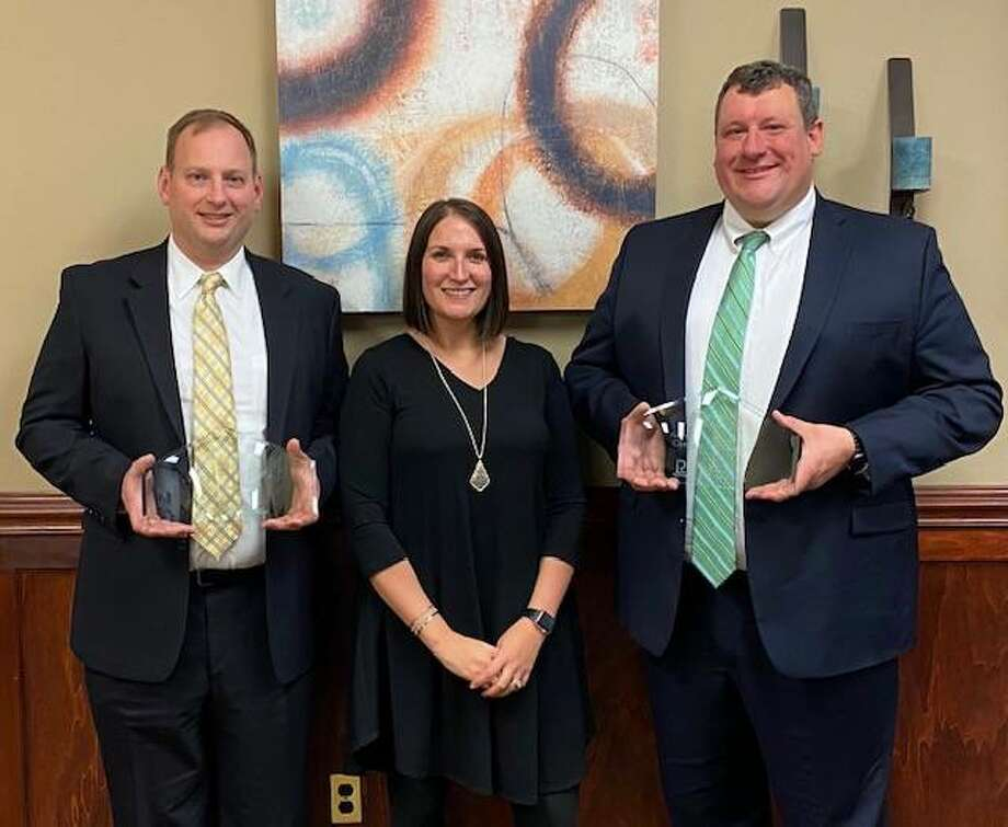 Recently honored with Missouri Lawyers Awards 2020 by Missouri Lawyers Media were, from left, The Gori Law Firm Partner Jason Steinmeyer, Managing Partner Sara Salger and Partner Chris Layloff.