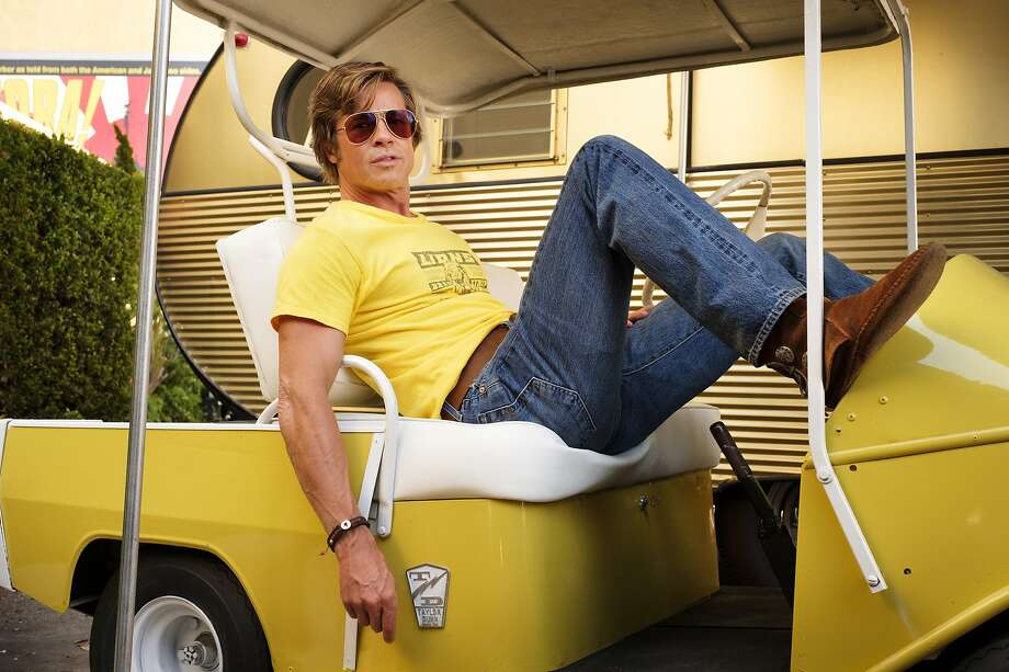 """Best Supporting Actor: Brat Pitt Now: The ultimate stereotypical Hollywood heartthrob Brad Pitt played a washed-up stuntman inQuentin Tarantino's """"Once Upon a Time in Hollywood."""" Photo: Andrew Cooper, Associated Press"""