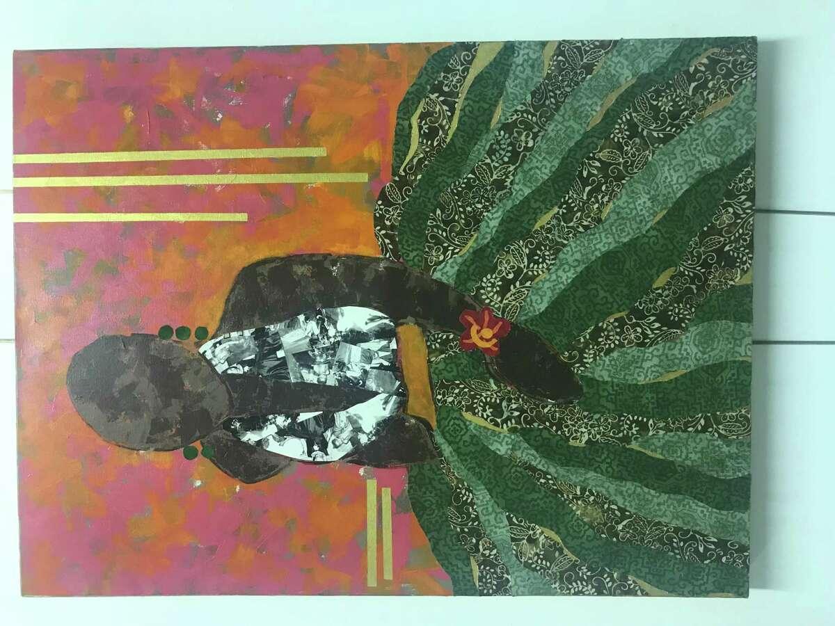 Title: Joyce Artist: Paula Drysdale Frazell Work: Mixed-Collage