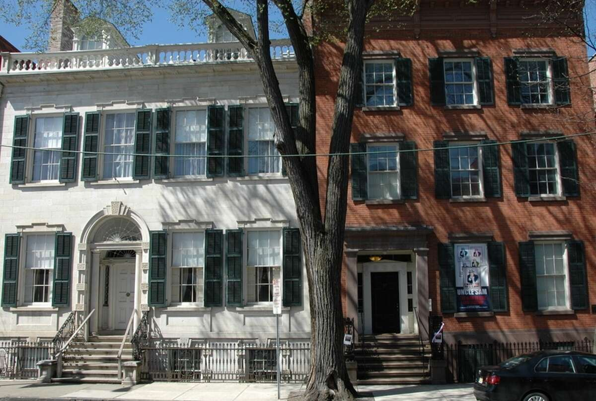 Location scouts for the television series The GIlded Age not only visited the Hart Cluett Museum for information about historic Troy but to consider the Hart Cluett Mansion, which is part of the museum collection, for filming in the upcoming series in Troy, N.Y.