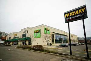 Fairway Market has a supermarket and wine store at 689-699 Canal St., in Stamford, Conn. The stores could shut down and more than 100 employees could be laid off in June 2020, if buyers are not found, according to Fairway officials.
