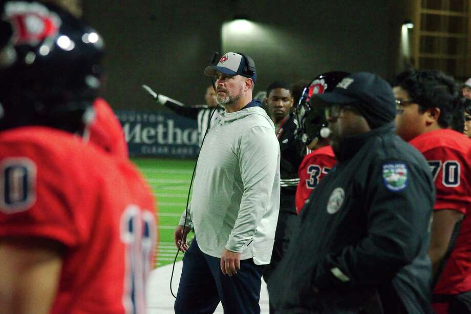 Dawson football coach Mike Allison, watching his team play Galena Park North Shore last fall, will have Shadow Creek to contend with this fall. Photo: Kirk Sides / Staff Photographer / © 2019 Kirk Sides / Houston Chronicle